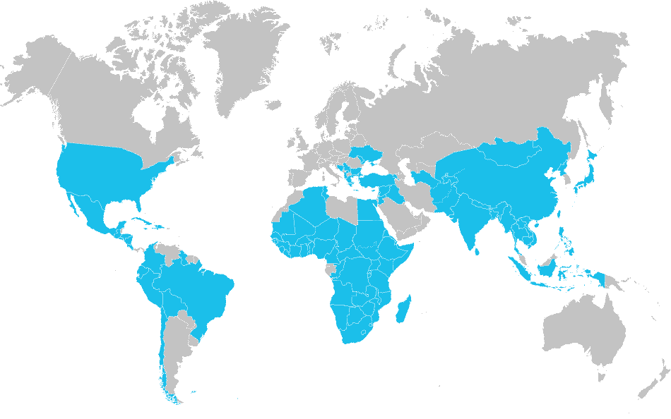 Where We Work - Locations Map
