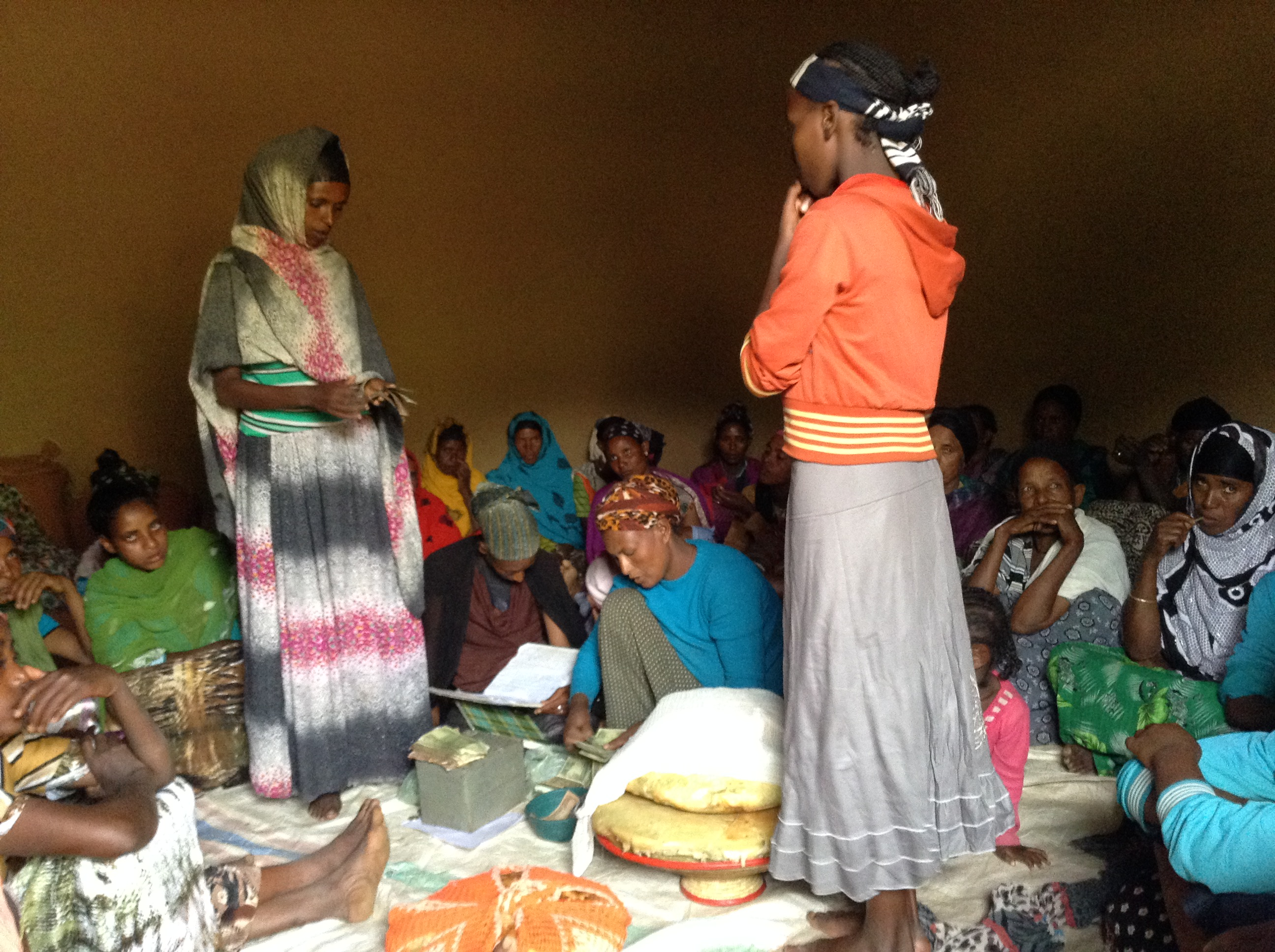 SILC (Savings and Internal Lending Community) groups allow women to save and take out loans to feed their families or start businesses. Photo by Fetiya Ahmed for CRS
