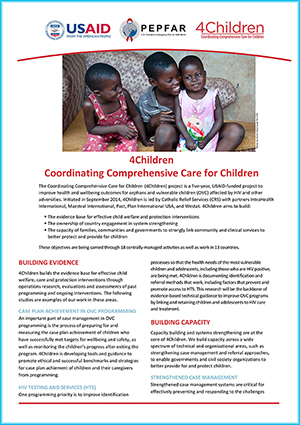 Click the image to download a PDF of the 4Children program fact sheet.