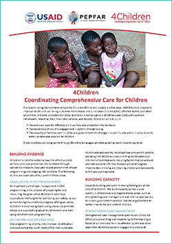 Click to download a PDF of fact sheet for the 4Children project.