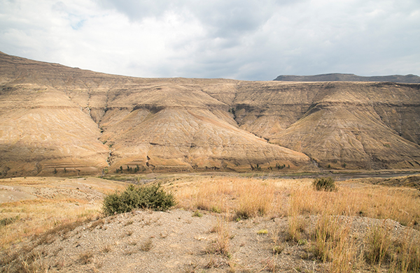 overgrazed mountains in Lesotho