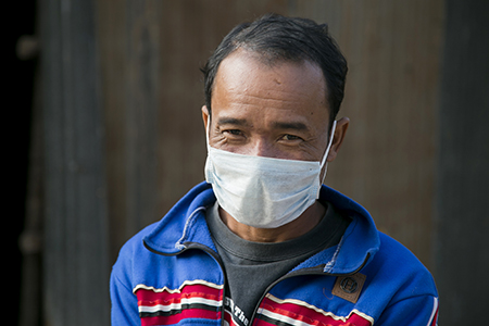 More than just medicine, many tuberculosis patients like Bung require help with their treatment, and CRS makes sure they receive it. Photo by Jennifer Hardy/CRS