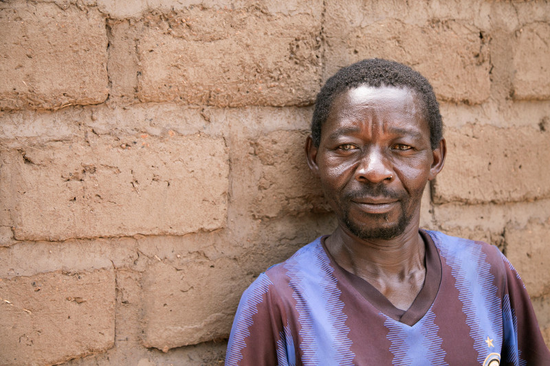 """With CRS' help, people like Loditto Basile are returning to rebuild their homes—and peace—\""""little by little\"""" in Central African Republic. Photo by Michael Stulman/CRS"""