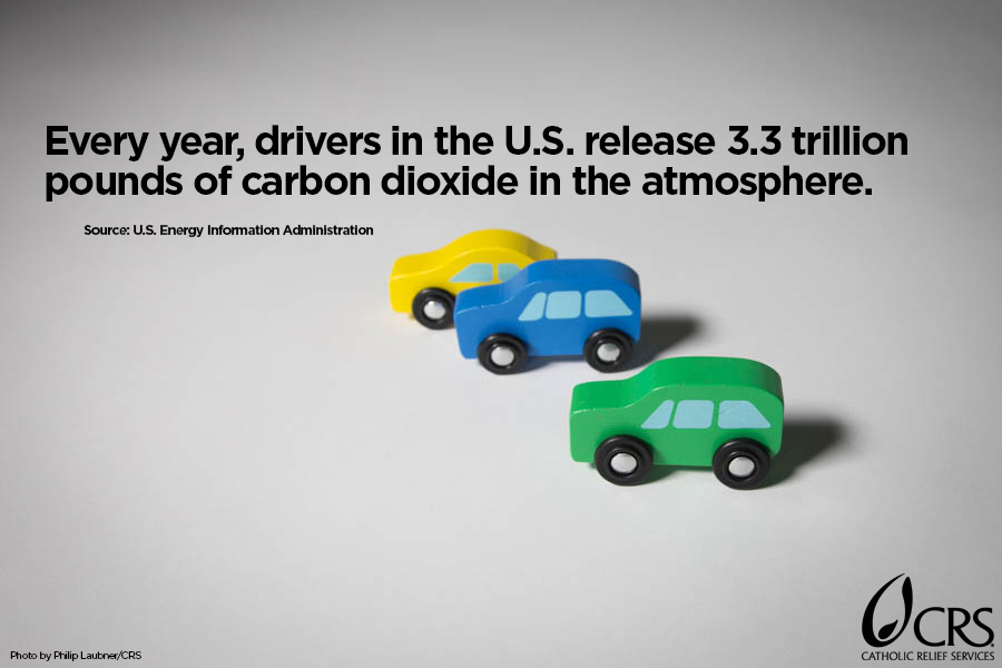 Every year, drivers in the U.S. release 3.3 trillion pounds of carbon dioxide in the atmosphere.