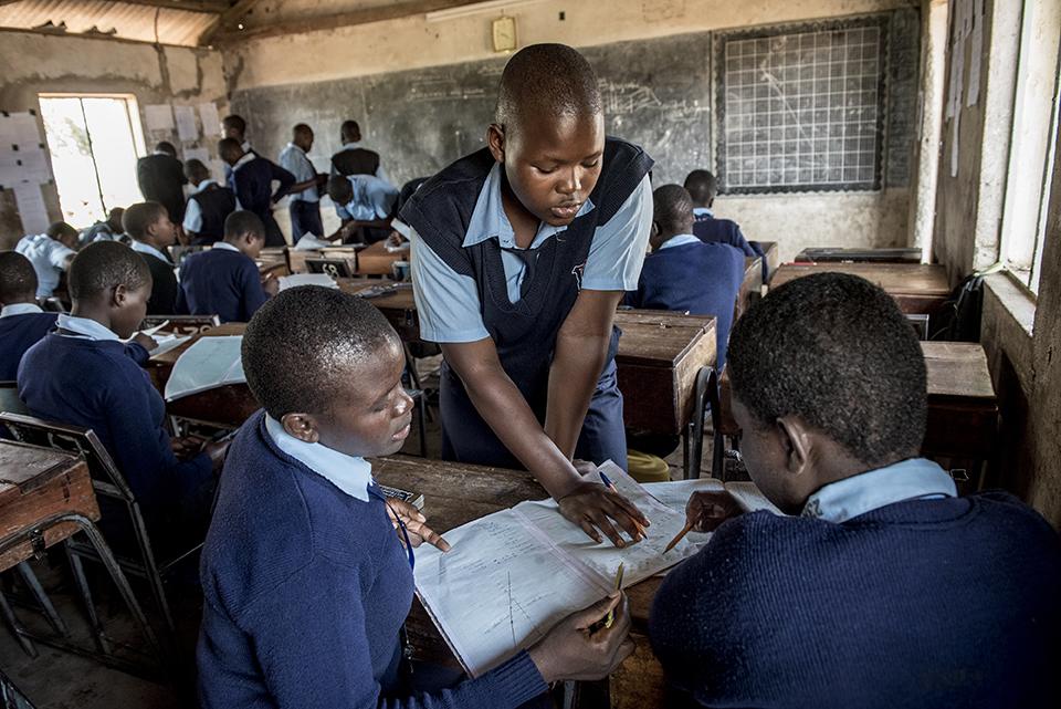 classmates in Kenya