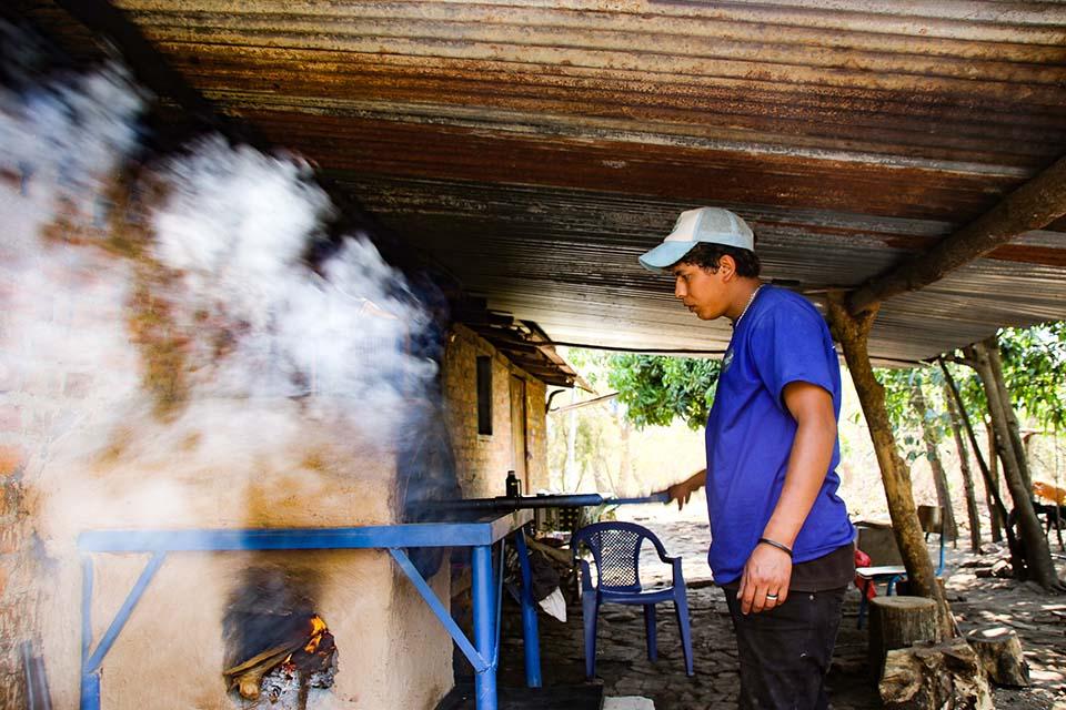 coffee roasting in Nicaragua