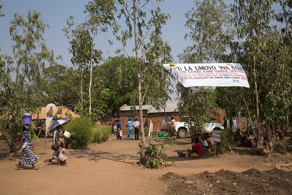 community health day in Malawi village