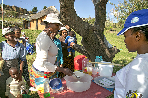 cooking class for nutrition in Lesotho