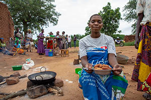 cooking demo in Malawi