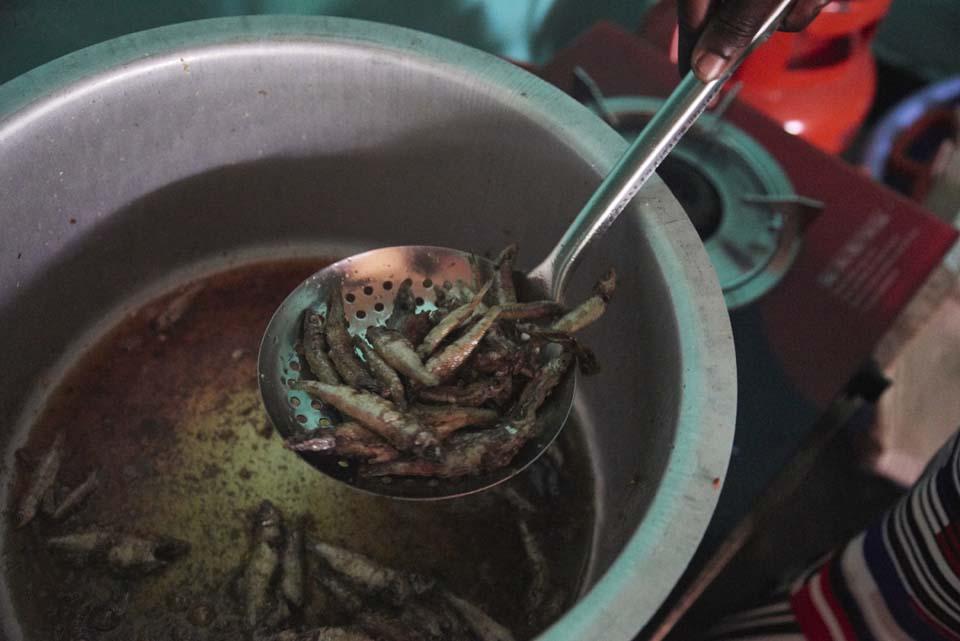 cooking fish in Rwanda