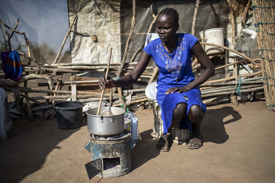 cooking in South Sudan
