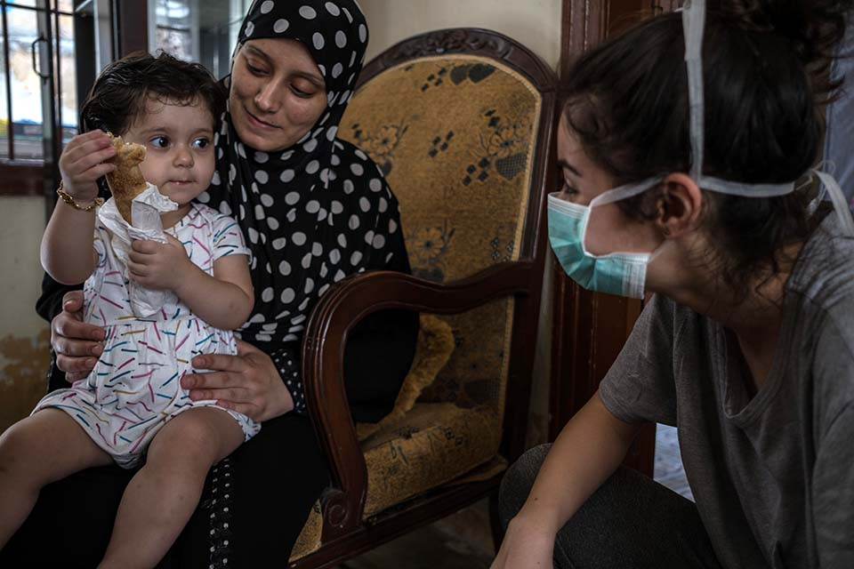 counseling mother and child in Beirut