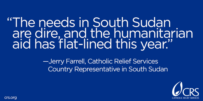 The needs in South Sudan are dire, and the humanitarian aid has flat-lined this year.
