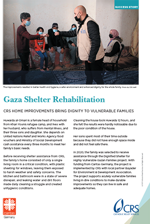 Gaza dignified shelter improves family health and safety