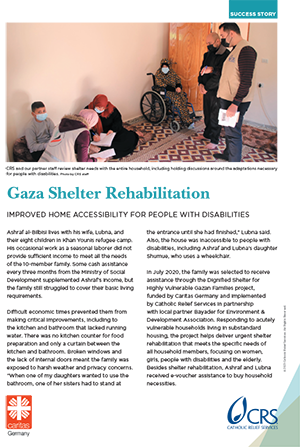 Gaza dignified shelter improves family accessibility