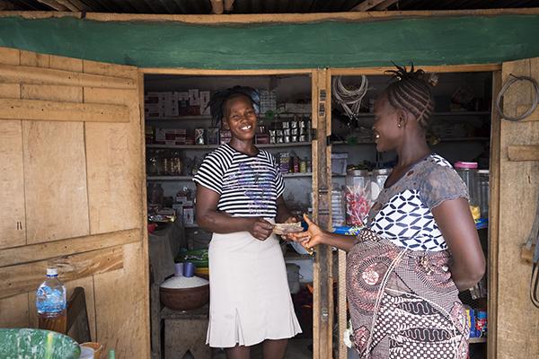 women at shop in Sierra Leone