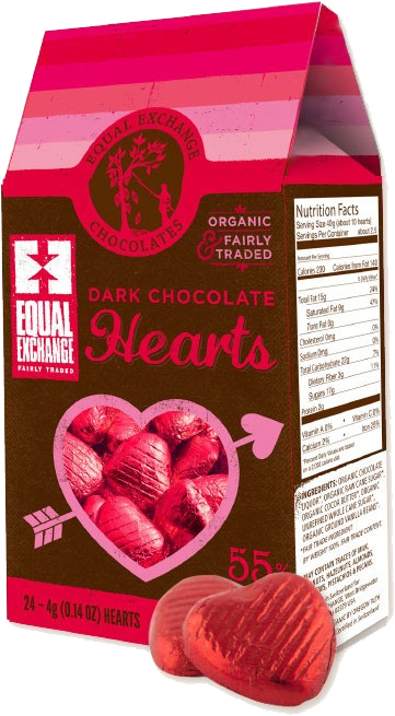 Click image to order fair trade chocolate from Equal Exchange.