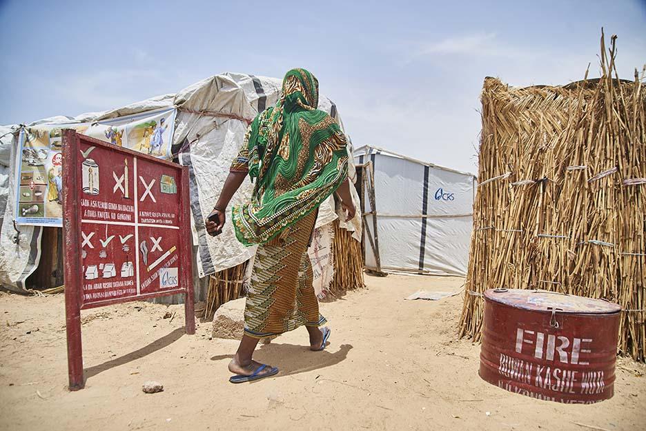 displaced woman in Nigeria