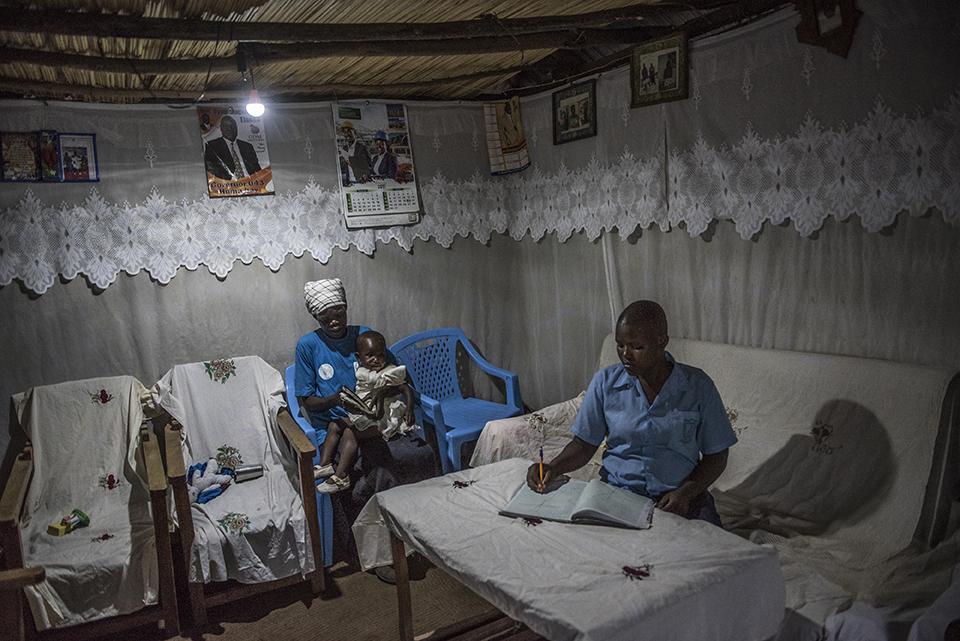 doing homework in Kenya