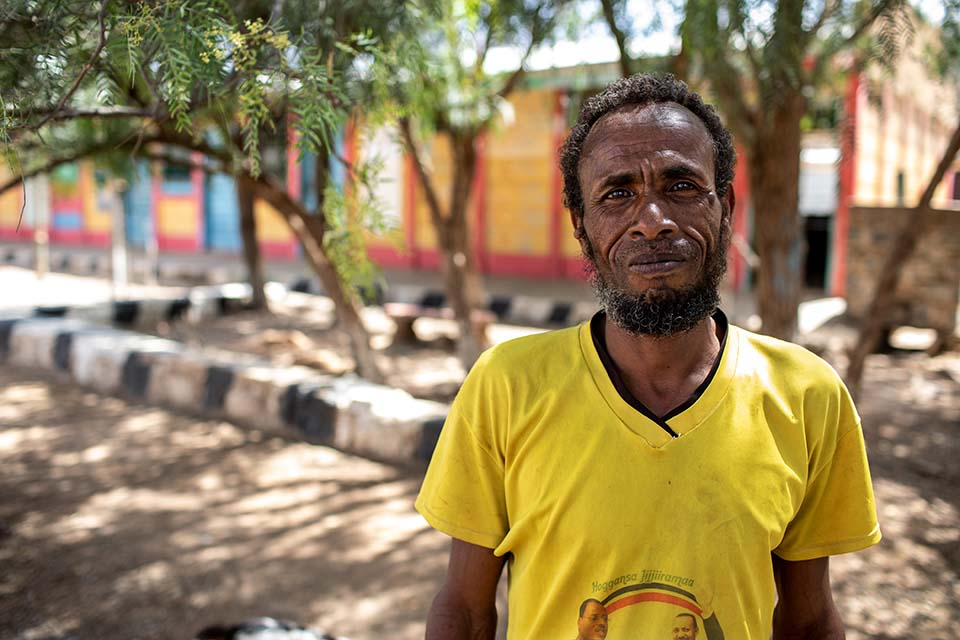 Ethiopian man involved in food security activity