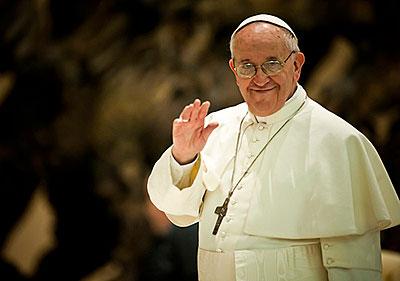 Pope Francis. Photo courtesy of Mazur/catholicnews.org.uk
