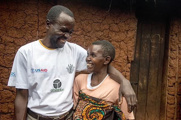 faithful house couple in Burundi