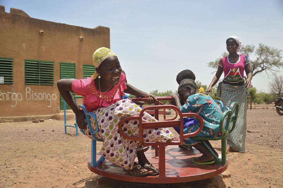 family in Burkina Faso