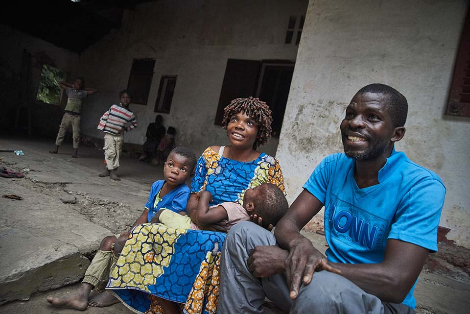 family in Congo