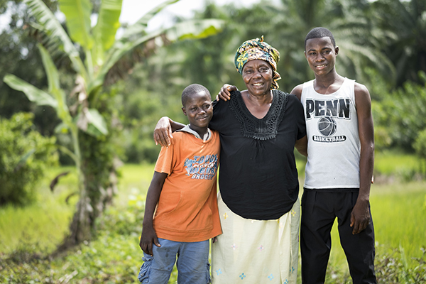 family in Sierra Leone