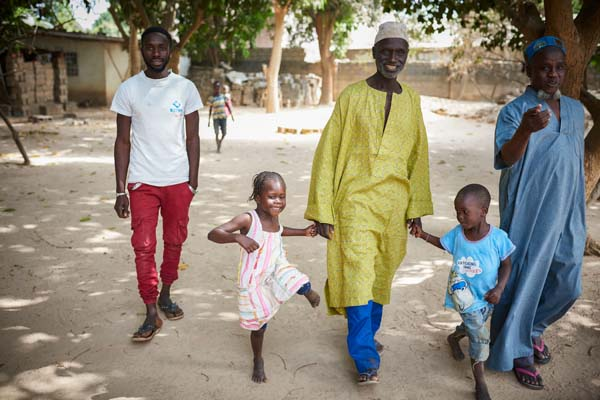 family in The Gambia