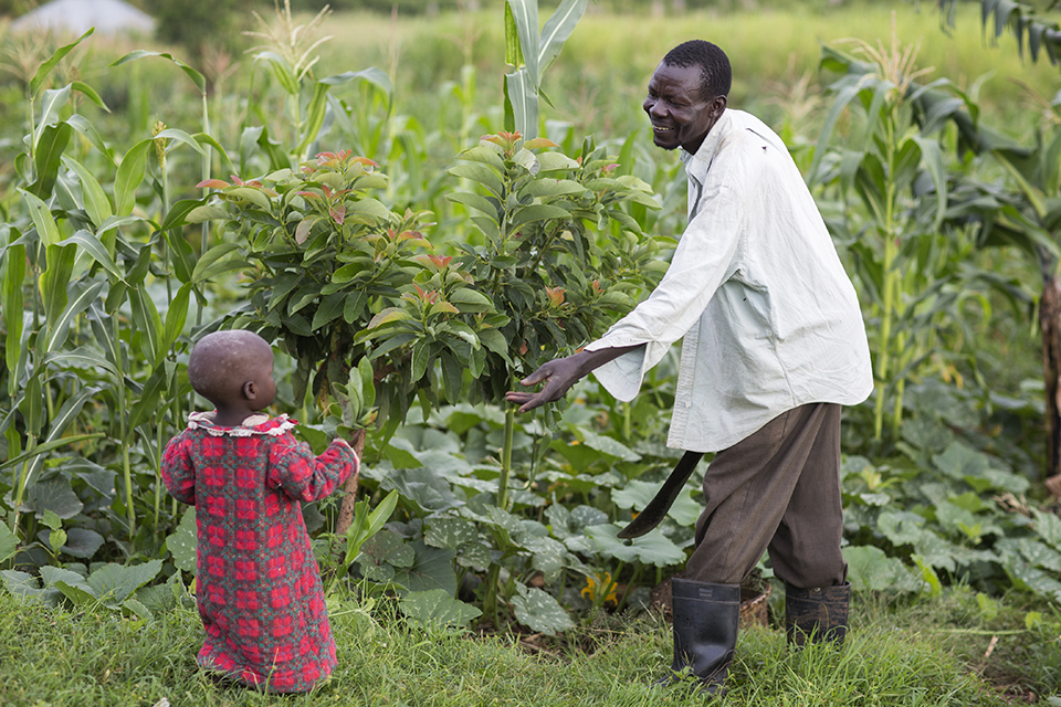 father and child in Kenya