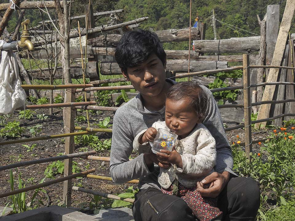 father and son in Nepal
