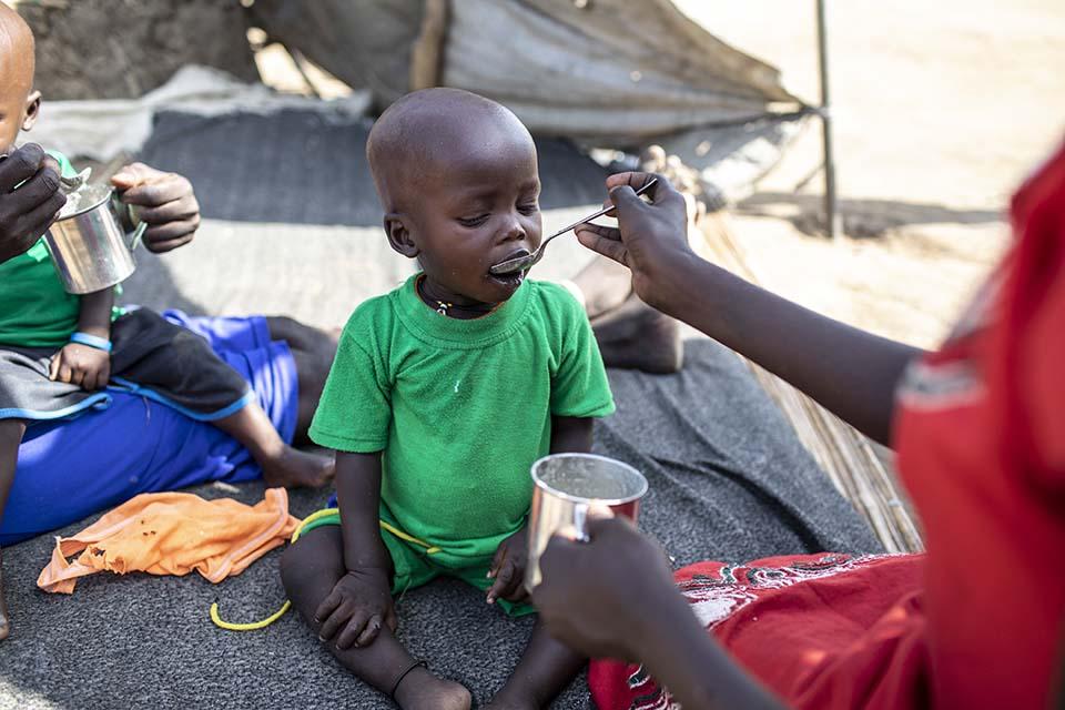 feeding in South Sudan