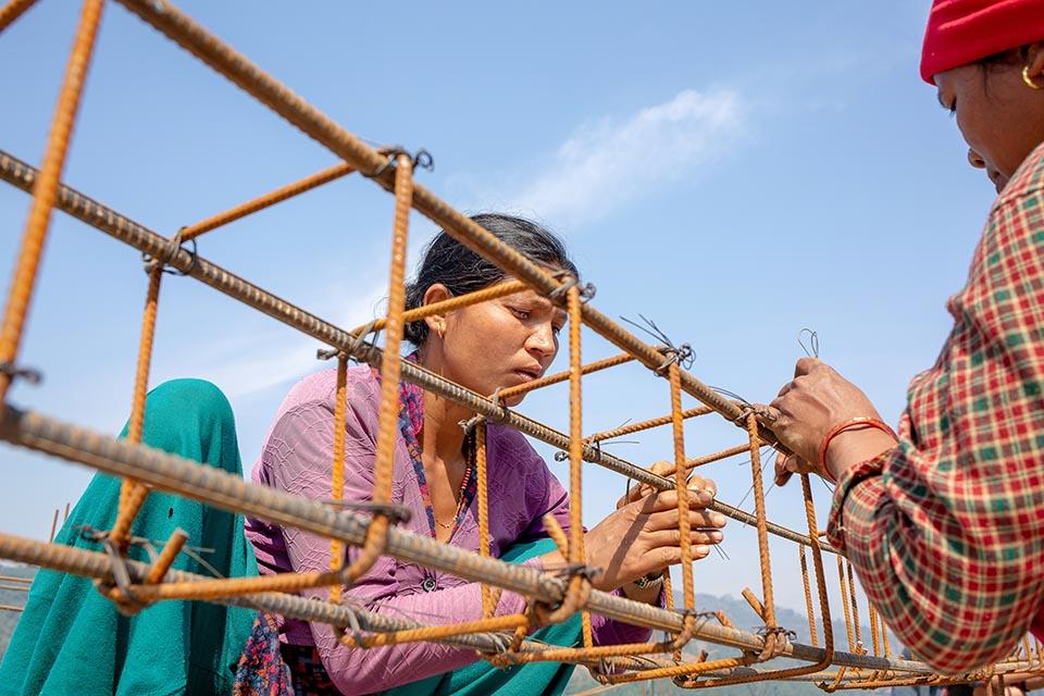 rebuilding Nepal homes