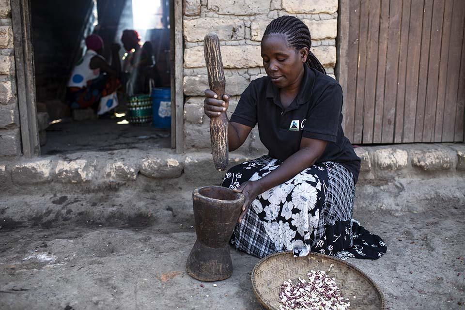 food preparation in Tanzania