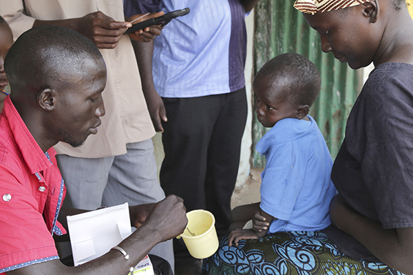 malaria medicine given to child