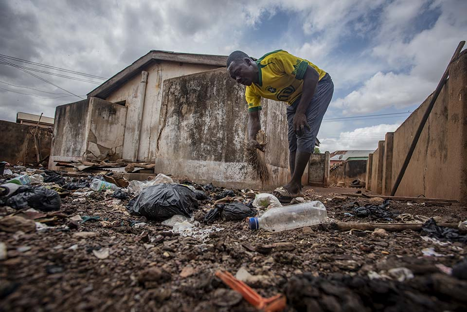 Ghana neglected public toilet