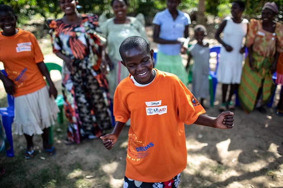 girl dancing in Uganda