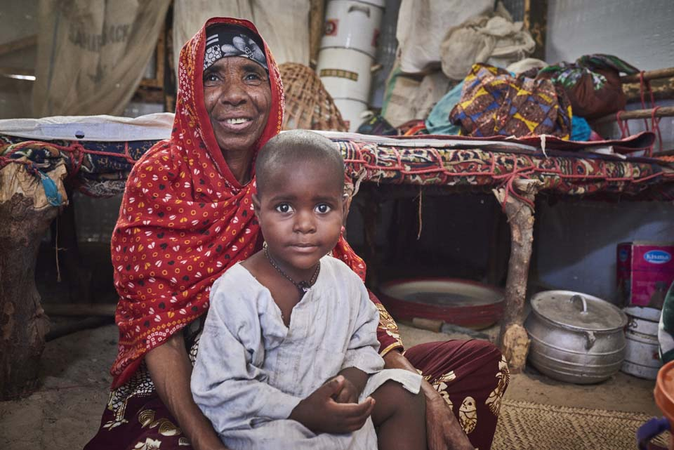 grandmother and child in Nigeria