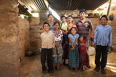 A CRS-supported curriculum in rural Guatemala is helping to make education more rewarding for students like 13-year-old Bernabe Jonatan Mulul Tzoy, far right, by incorporating learning that affirms cultural heritage. Photo by Silverlight for CRS