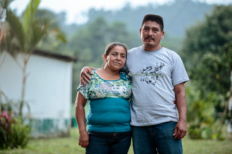 Former refugees Carlos Cano and his sister Odilia can finally build a secure future after returning to their homeland in Guatemala. They are learning better ways to farm and save money through a CRS program. Photo by Oscar Leiva/Silverlight for CRS