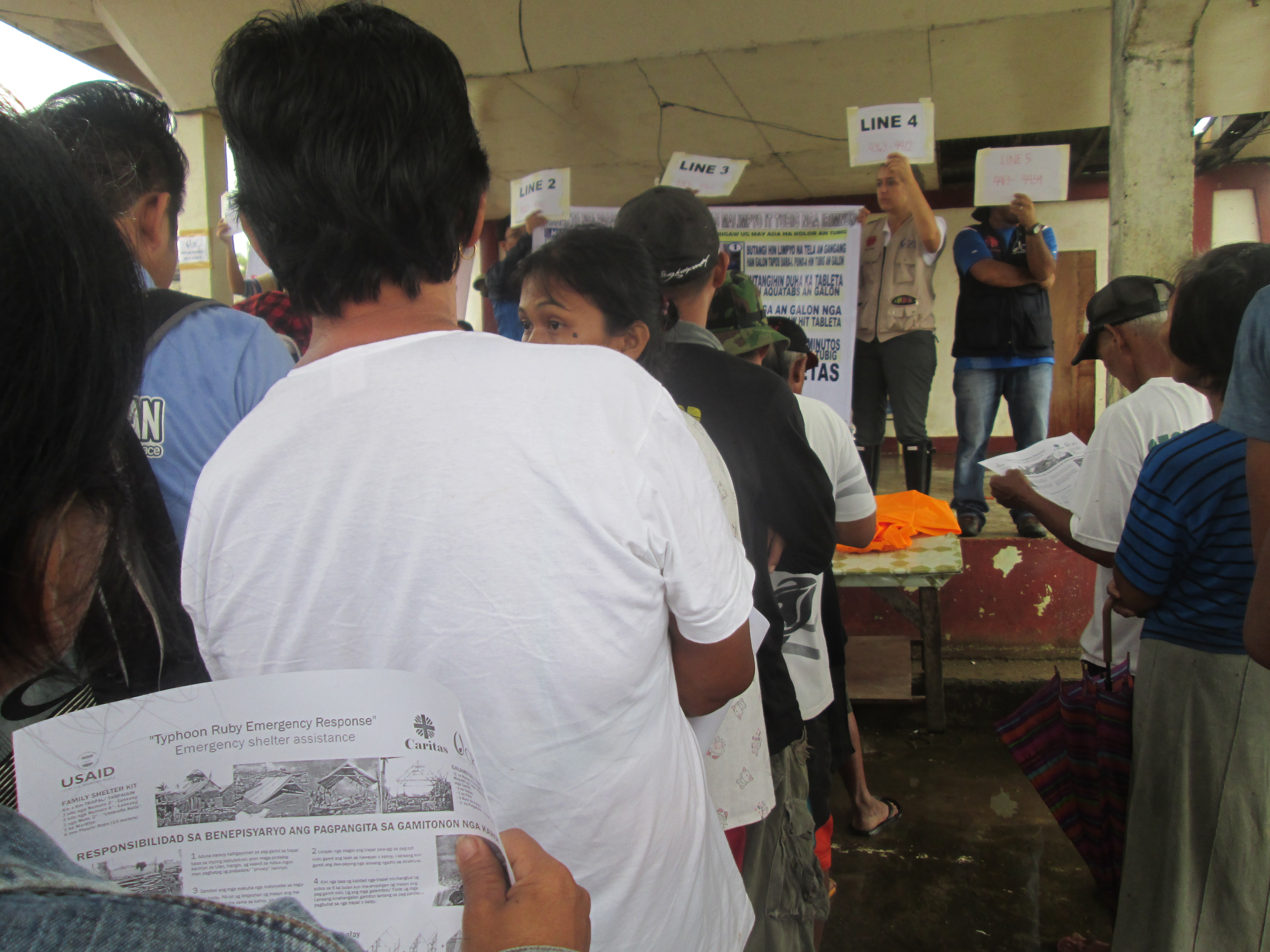Philippines fellow Julia Leis supported the Typhoon Hagupit response in Eastern Samar, assisting with distributions of shelter; water, sanitation and hygiene, and household kits.