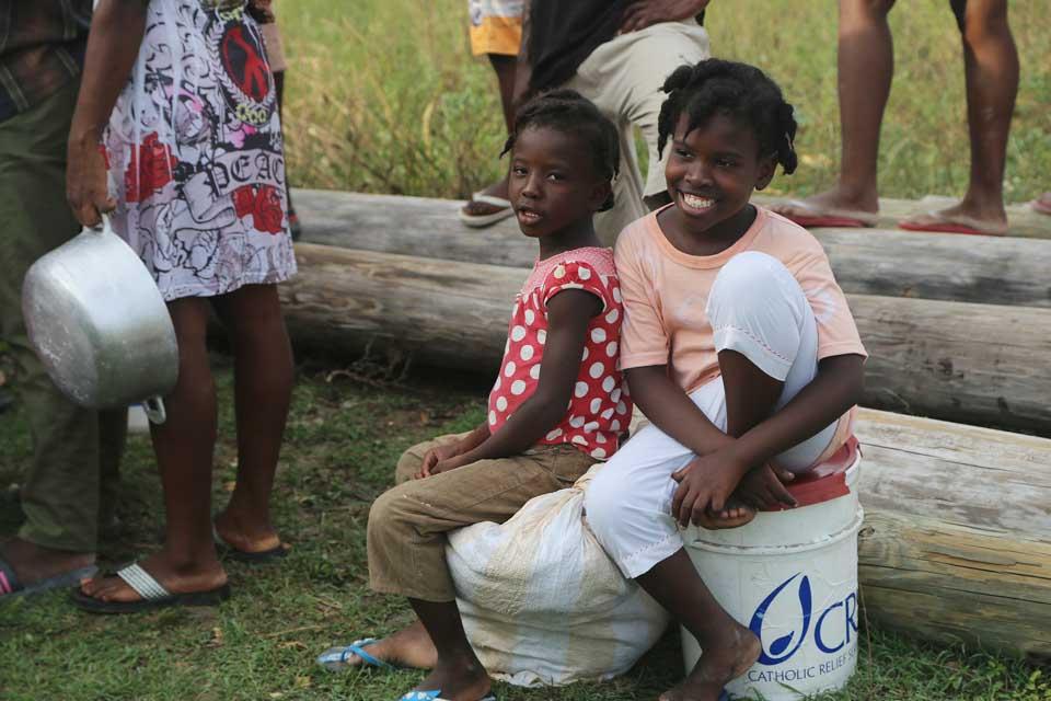 hurricane survivors in Haiti