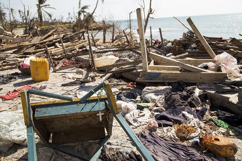 Haiti hurricane Matthew debris