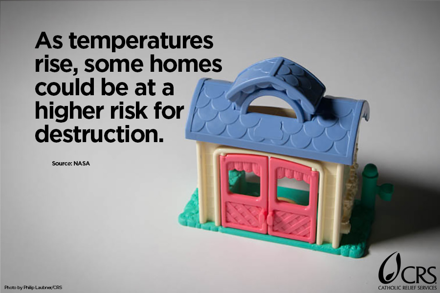 As temperatures rise, some homes could be at risk for destruction.