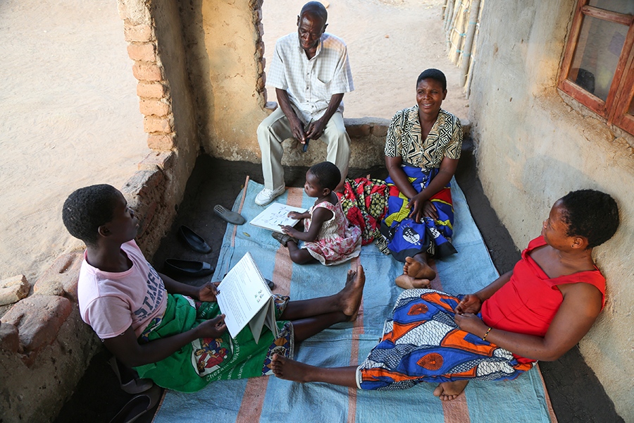 home visit in Malawi
