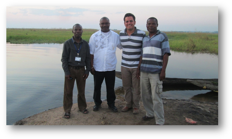 CRS fellow Rafael Merchan, second from right, in Malawi.