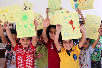 CRS and our local partners are providing education and care for 40,000 Syrian children. Photo by Murad Saldawi for CRS/Caritas Jordan