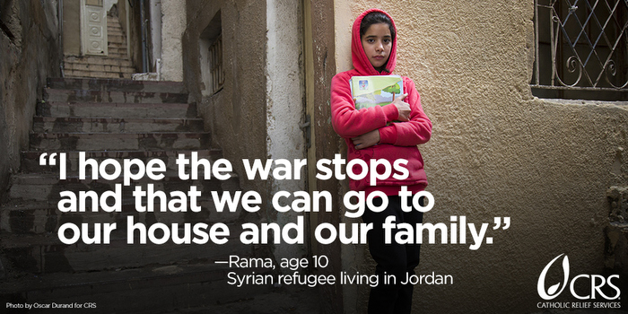 17 years is the average length of time refugees are uprooted from their lives. Here are 7 things you can do to help Syrian refugees through Catholic Relief Services. #WorldRefugeeDay