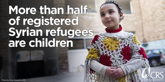More than half of registered Syrian refugees are children. #WorldRefugeeDay